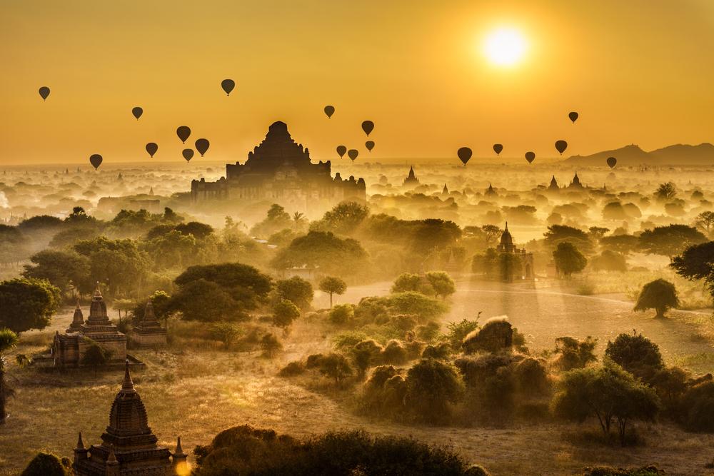 Fantastiske templer i Bagan i Burma