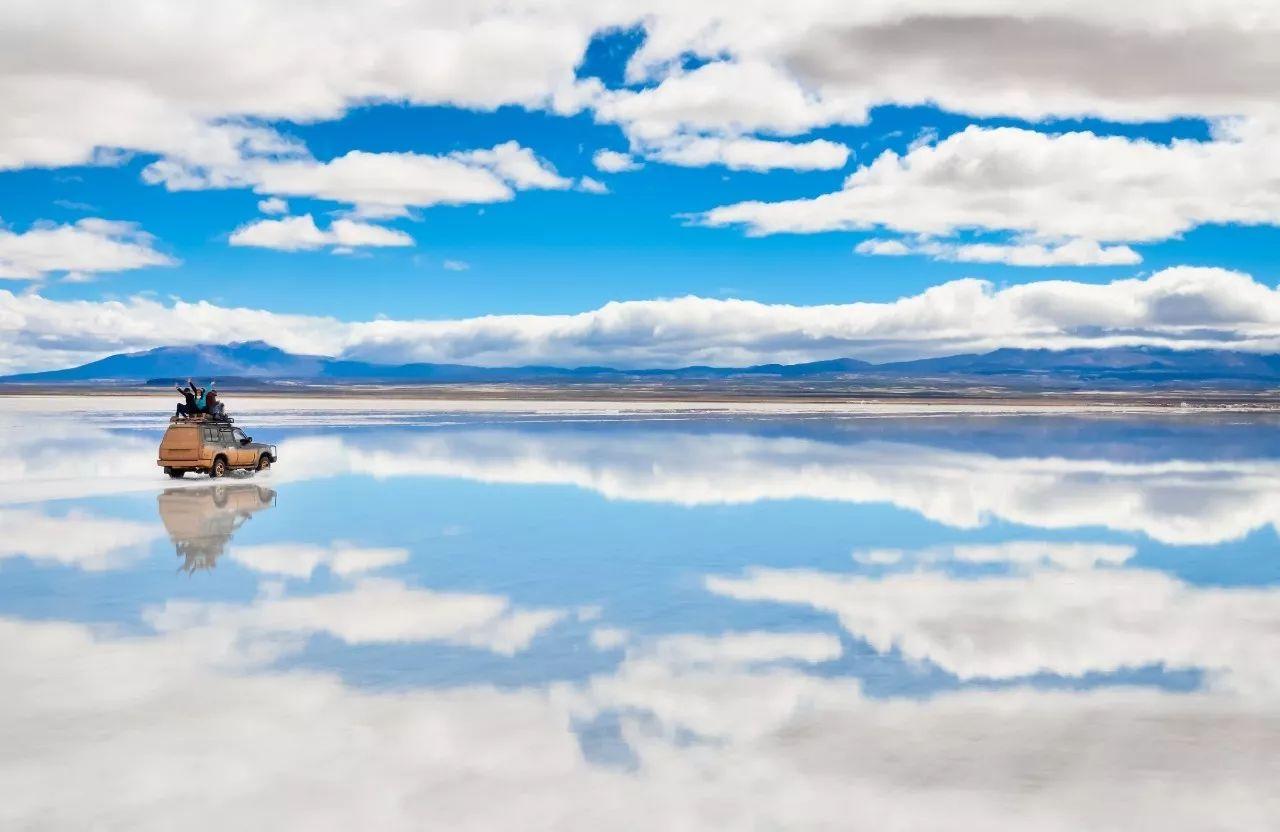 Verdens største saltsø Salar de Uyuni i Bolivia